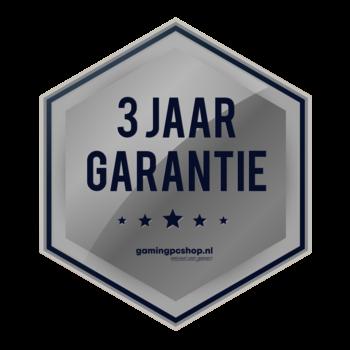 3 jaar garantie en ondersteuning